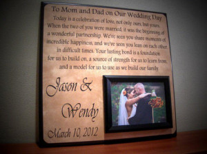 Such a sweet gift for mother and father of the bride/groom.