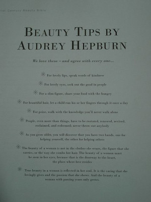 QUEEN of beauty Audrey Hepburn's tips, she is definitely an ...