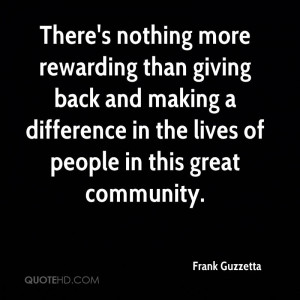 Quotes On Giving Back to the Community