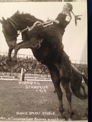 Fannie Sperry Steele, Winnipeg Stampede 1913