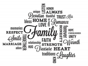 family quote wall decals are peel and stick wall decals that can
