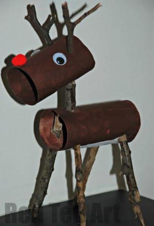 Toilet Roll Reindeer Rudolph