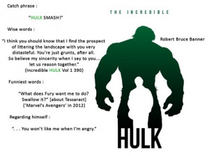 The Hulk AKA Bruce Banner's quotes
