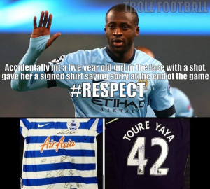 Respect Yaya Toure for giving girl his signed Shirt