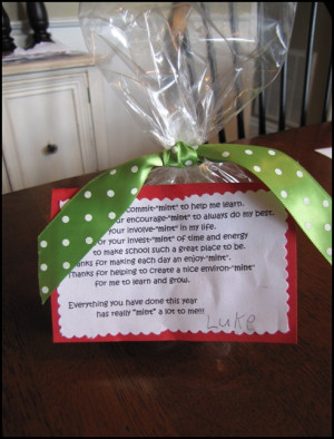 Inexpensive, yet meaningful, teacher gift…