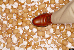 walk on eggshells