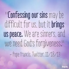Reconciliation Pope Francis quote