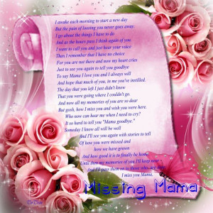 In Memory Of You Poem | Poem for Mother - Missing Mama - Online Grief ...