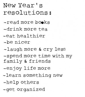 Our Ten Favorite New Year's Resolutions
