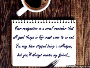 ... Farewell Messages for Colleagues: Goodbye Quotes for Co Workers