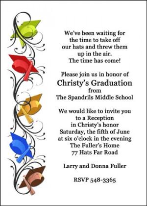 Middle School Graduation Hats Invite Celebration areBecoming Very ...