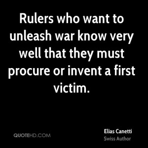Elias Canetti War Quotes