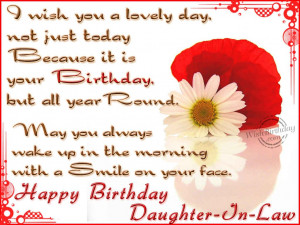 Wishing You A Very Happy Birthday Daughter-In-Law