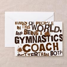 gymnasticscoachbrown Greeting Card for