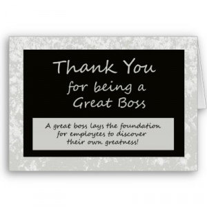 Thank You For Being A Great Boss