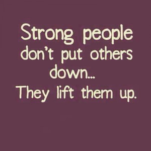 Strong people quote for morning announcements
