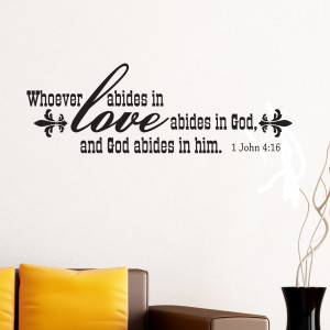 Abide In Love Religious Quote Wall Sticker 1