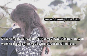 You are too afraid to fall in love
