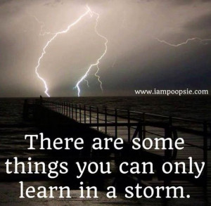 Learn in the storm quote via www.IamPoopsie.com