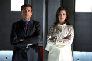 Steve Carell and Anne Hathaway in Get Smart. . © Warner Bros Pictures