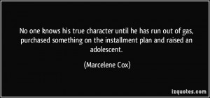 More Marcelene Cox Quotes