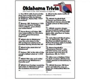 Oklahoma State Trivia Game