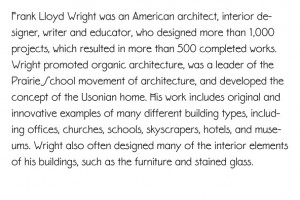 ... Carol Toriumi Lawrence P22 Eaglefeather 1999 after Frank Lloyd Wright