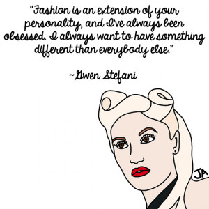 ... some of their favorite Gwen Stefani quotes – in illustrated form