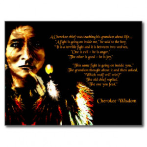 Cherokee Wisdom Postcard