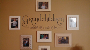 Grandchildren Complete Life's Circle Wall Decal