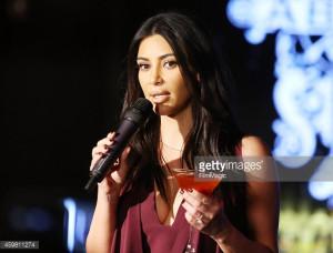 Kim Kardashian Raises Toast For Elizabeth Taylor Foundation World AIDS