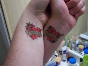 couple tattoo quotes heart couple tattoo quotes