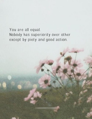 Muhammad pbuh quotes about equality