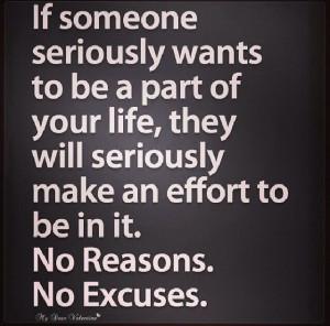 No Reasons No Excuses Quote
