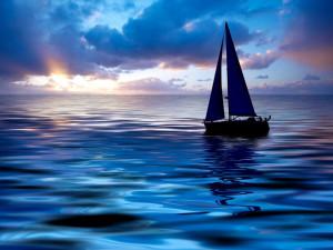 Sunset sailing. Photo © Eric Gevaert