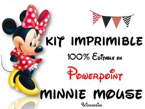 kit imprimible minnie mouse rojo 100 editable en powerpoint