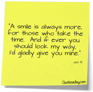 Navigation Home > Inspirational Quotes > Don't Forget To Smile