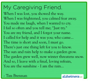 Poem: My Caregiving Friend