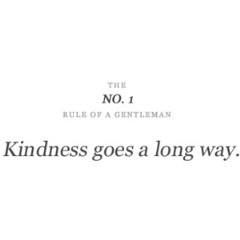 No. 1 Rule of a Gentleman