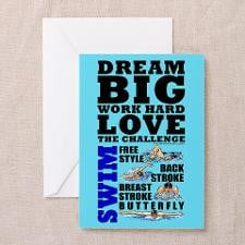 Swimmer Greeting Cards