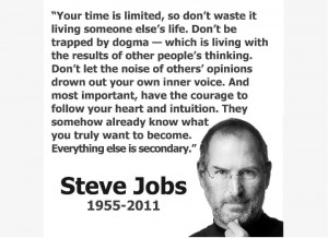 Steve Jobs Quote on Life: Sometimes life is going to hit you in the ...