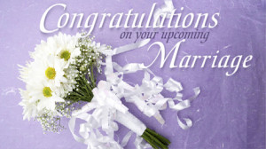 Wishes to you on your wedding.
