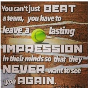 Softball Impression: me and my team did this, and were the league ...