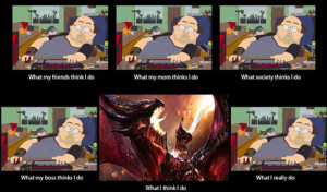 World of Warcraft - What my friends think I do