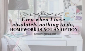 Funny Quotes About Homework