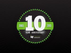 Happy 10 Year Anniversary 10yearanniversarylargegrn. 25th Year Work ...