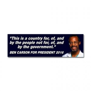 2016 Gifts > 2016 Auto > Ben Carson People Quote Car Magnet 10 x 3