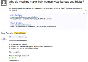 Secular Muslims who force their womenfolk (and much less commonly ...
