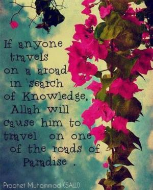 Pephet Muhammad quote on Knowledge