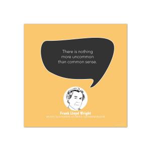 Common Sense, Frank Lloyd Wright - Startup Quote Poster (CG344033)